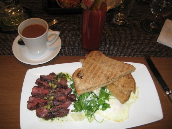 Pacci Wagyu Steak and Eggs