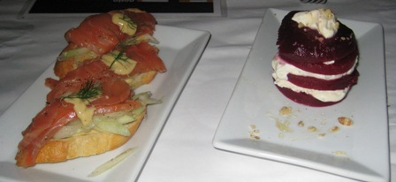 Social - Smoked Salmon, Beets and Goat Cheese