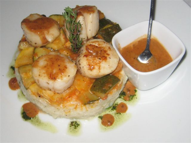 Social Scallops and Risotto