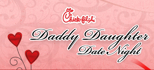 Daddy daughter date night chick fil a athens ga