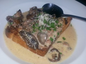 saltyard shrooms on toast