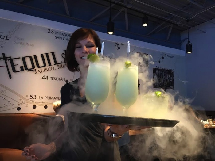 Specialty cocktails are made with dry ice for fun twist!