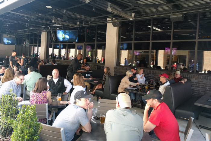 The weather is perfect this spring for outdoor dining on the Yard House's large patio.