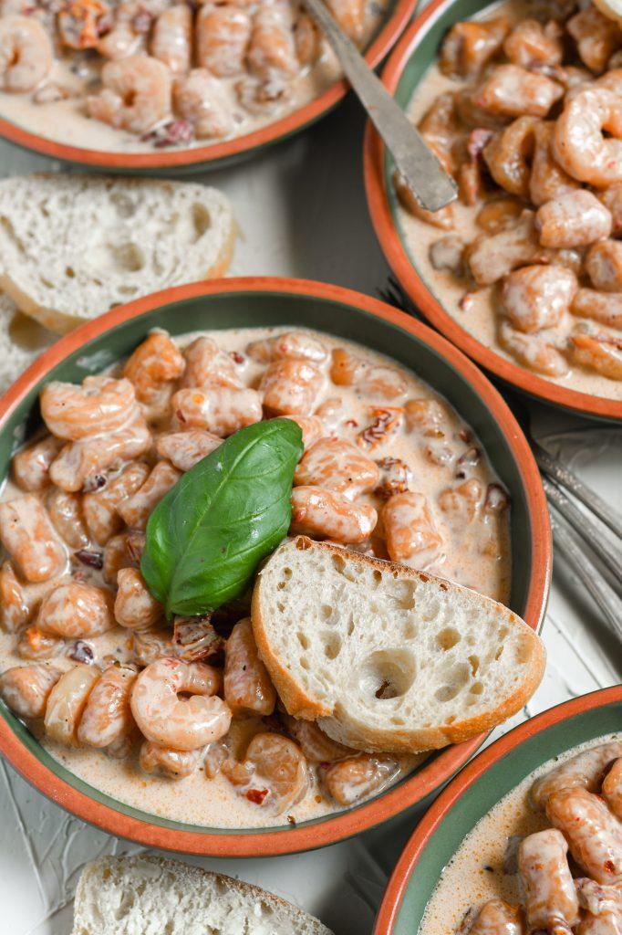 Sweet Potato Gnocchi with Shrimp and Creamy Sundried Tomato Sauce