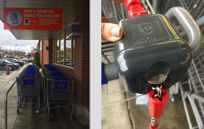 aldi shopping cart quarter
