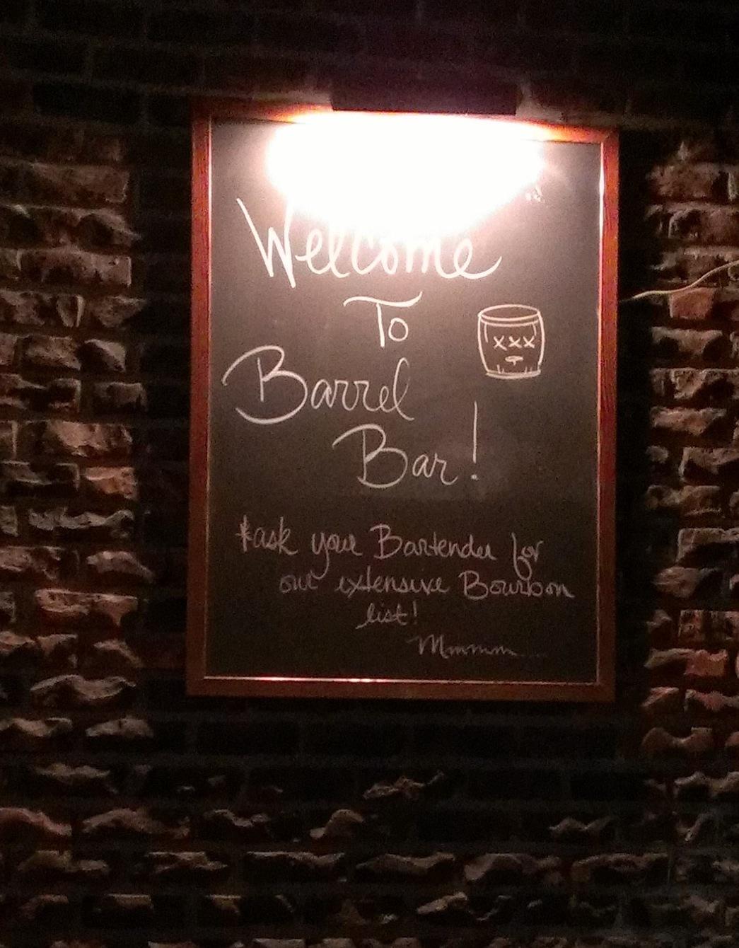 Sandy spring 39 s barrel bar opens roamilicioussandy spring for Food 101 bar bistro