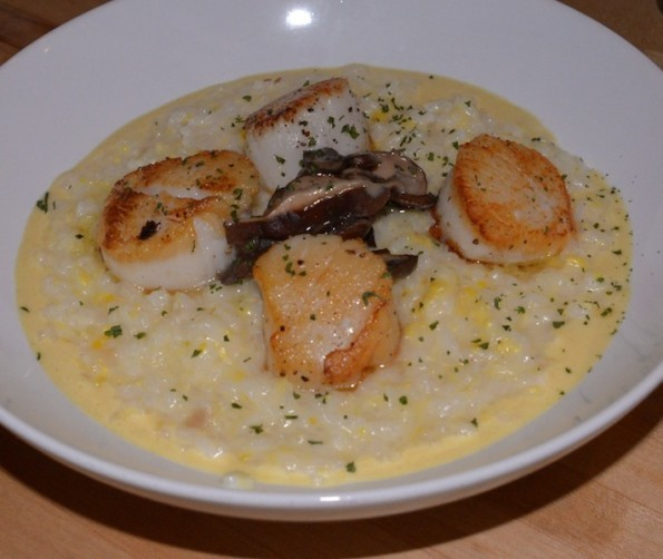 1 Kept Scallops with Corn Risotto
