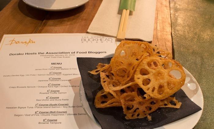 Doraku-Sushi-lotus-root