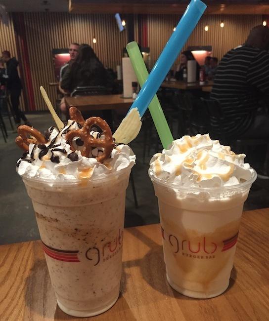 grub burger bar milkshakes