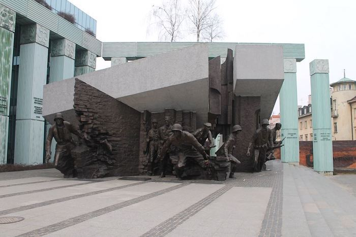 WWII monument warsaw