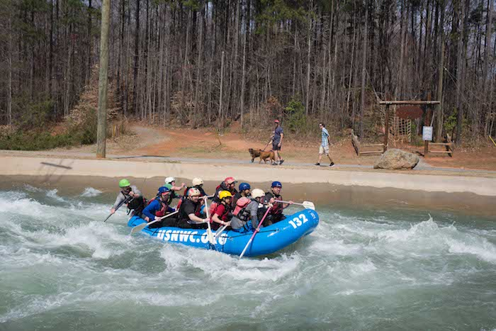 Kayaking adventure at the US Whitewater Center in Charlotte