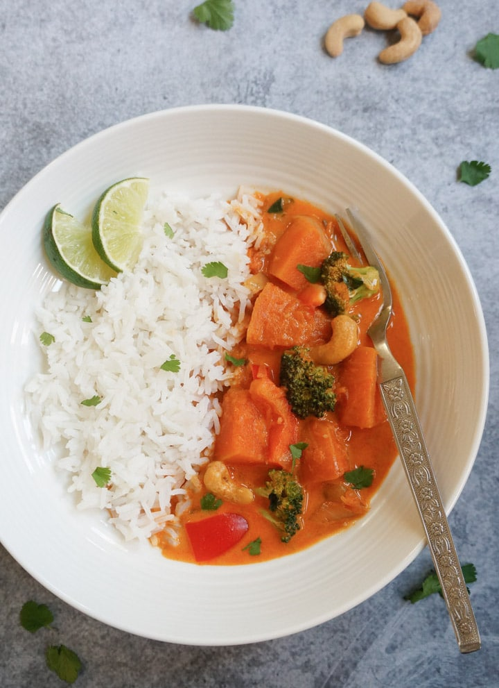 Thai Pumpkin Red Curry-Recipe